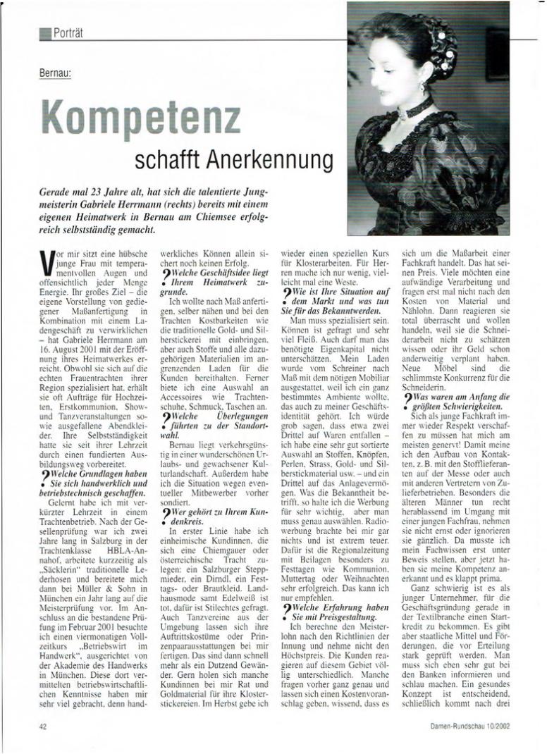 Gabriele Herrmann - Schneidermeisterin gelernte Trachtenschneiderin